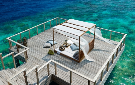 Dusit Thani Maldives, Baa Atoll, Maldives. Hotel Review by TravelPlusStyle. Photo © Dusit International