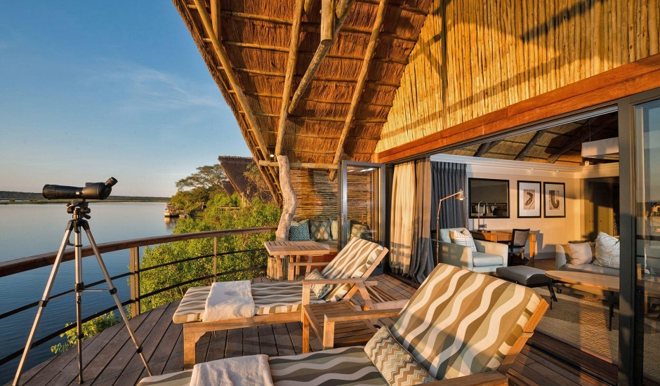 Chobe Water Villas, Namibia. TravelPlusStyle.com