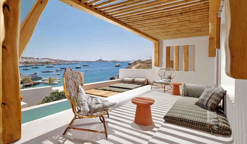 Kenshō Psarou, Mykonos, Greece. TravelPlusStyle.com