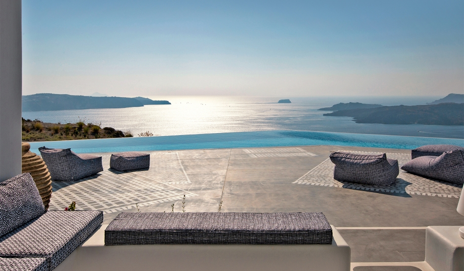 Erosantorini Santorini, Greece. TravelPlusStyle.com