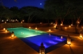 Pool at night © The Red Pepper House, Lamu