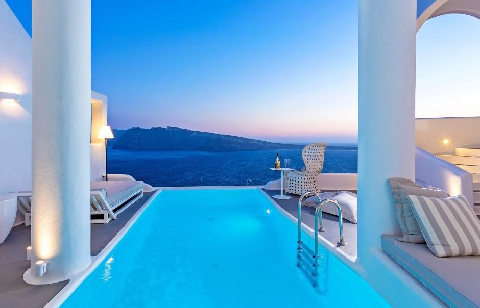 CharismaSuites Oia, Santorini, Greece. TravelPlusStyle.com