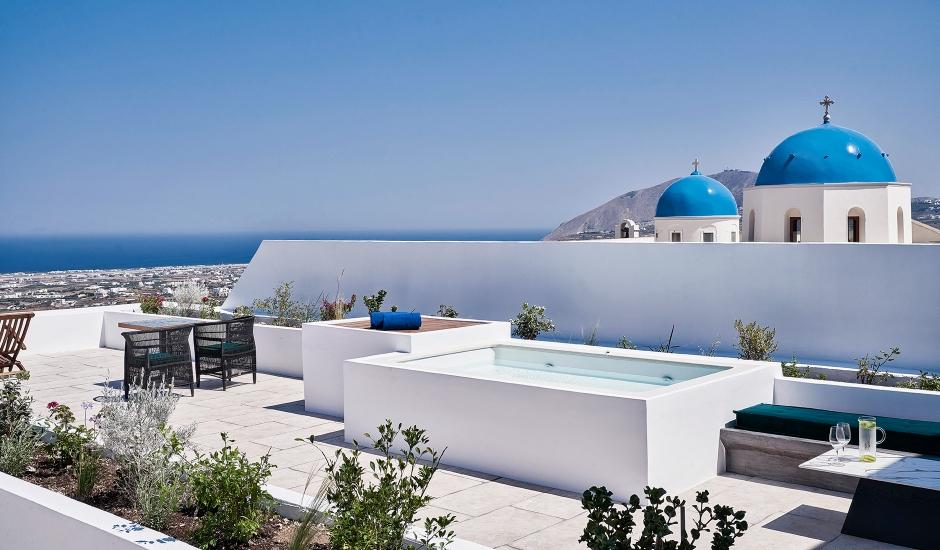 Katikies Garden, Fira, Santorini. TravelPlusStyle.com