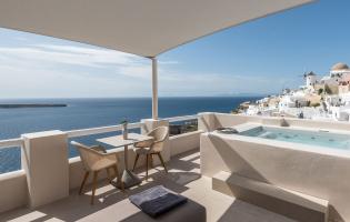 Oia Castle Luxury Suites by Art Maisons, Oia, Santorini, Greece. TravelPlusStyle.com