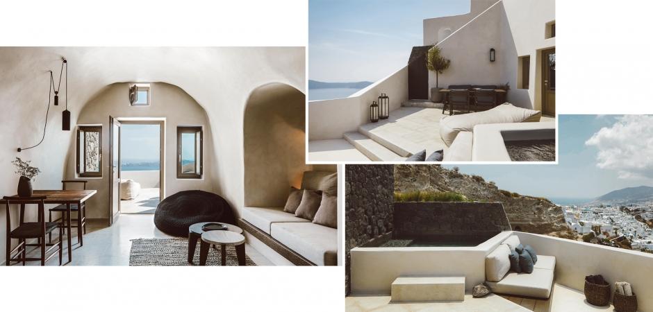 Vora Villas Santorini, Imerovigli, Greece. TravelPlusStyle.com