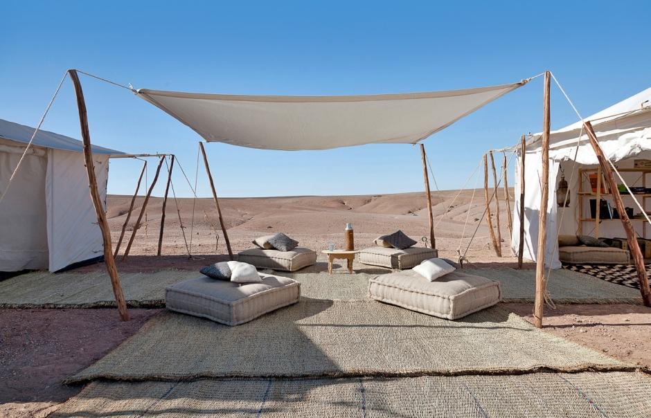 Scarabeo Camp, Agafay Desert, Marrakech, Morocco. TravelPlusStyle.com