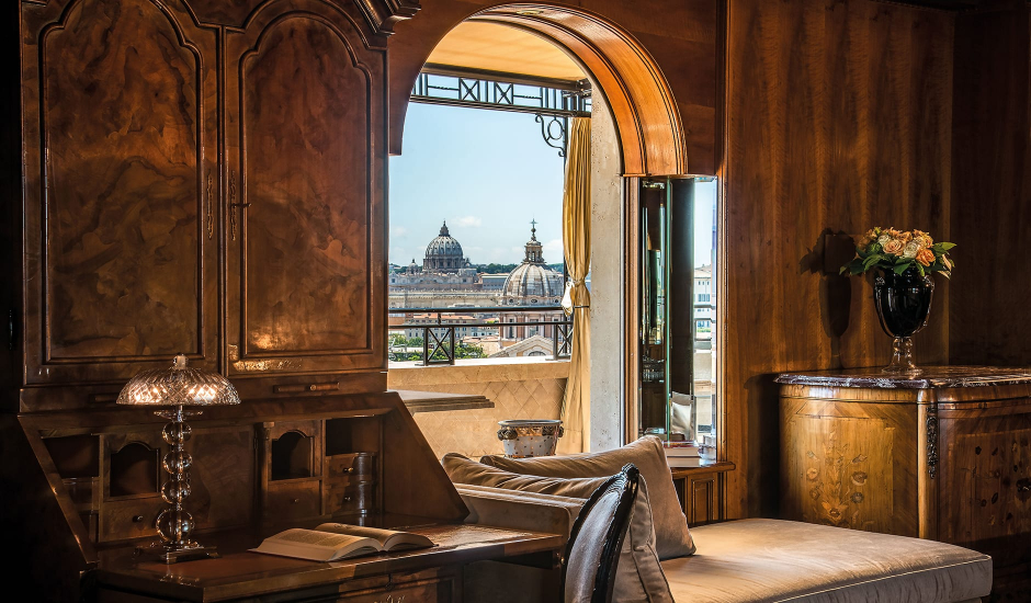 Hotel Hassler Roma, Rome, Italy. TravelPlusStyle.com