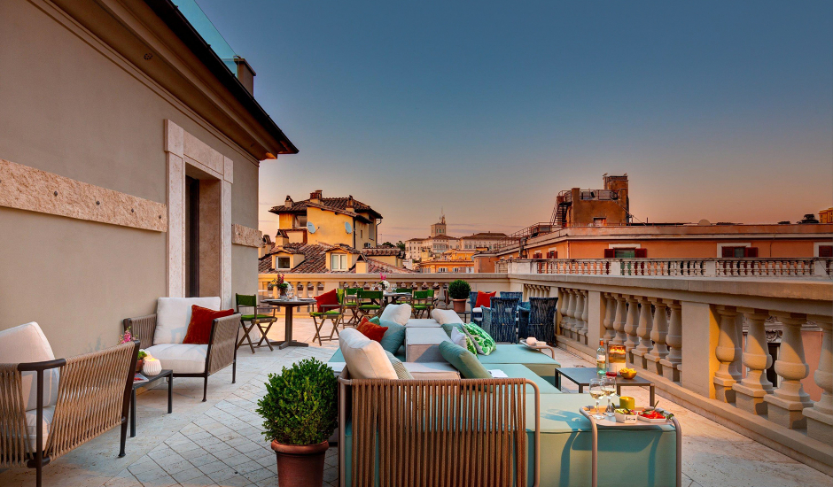Singer Palace Hotel, Rome, Italy. TravelPlusStyle.com