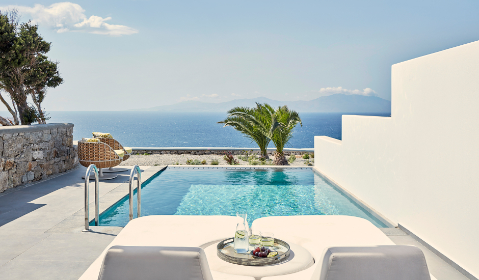 Myconian Korali Relais & Châteaux, Mykonos, Greece. The Best Luxury Hotels In Mykonos. TravelPlusStyle.com
