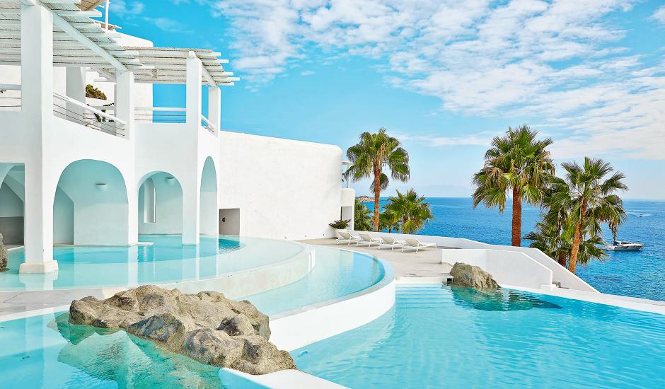 Mykonos Blu, Grecotel Boutique Resort, Mykonos, Greece. The Best Luxury Hotels In Mykonos. TravelPlusStyle.com