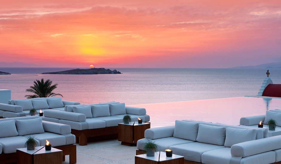 Bill & Coo Suites and Lounge, Mykonos, Greece.  The Best Luxury Hotels In Mykonos. TravelPlusStyle.com
