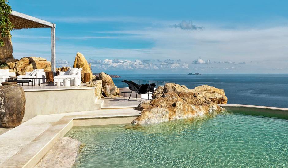 Myconian Panoptis Escape, Elia, Mykonos, Greece. The Best Luxury Hotels In Mykonos. TravelPlusStyle.com