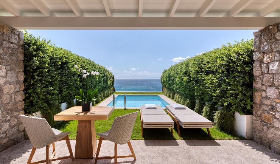 Santa Marina, a Luxury Collection Resort, Mykonos, Greece. The Best Luxury Hotels In Mykonos. TravelPlusStyle.com
