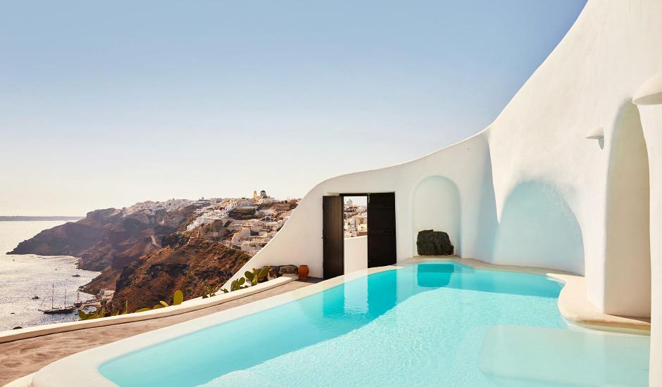 Perivolas Hotel, Oia, Santorini, Greece. TravelPlusStyle.com