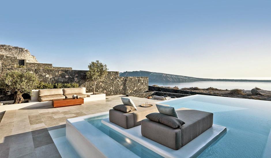 Canaves Oia Epitome, Santorini, Greece. TravelPlusStyle.com