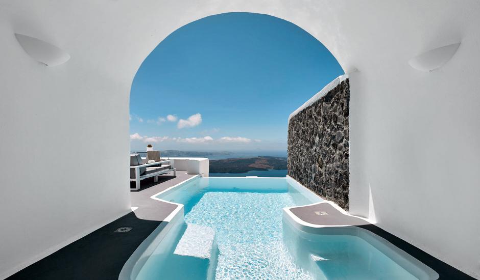 Dreams Luxury Suites, Imerovigli, Santorini, Greece. TravelPlusStyle.com