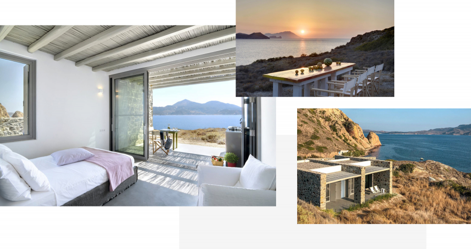 Skinopi Lodge, Milos, Greece.The ultimate guide to the best chic hotels in Milos, Greece by Travelplusstyle.com