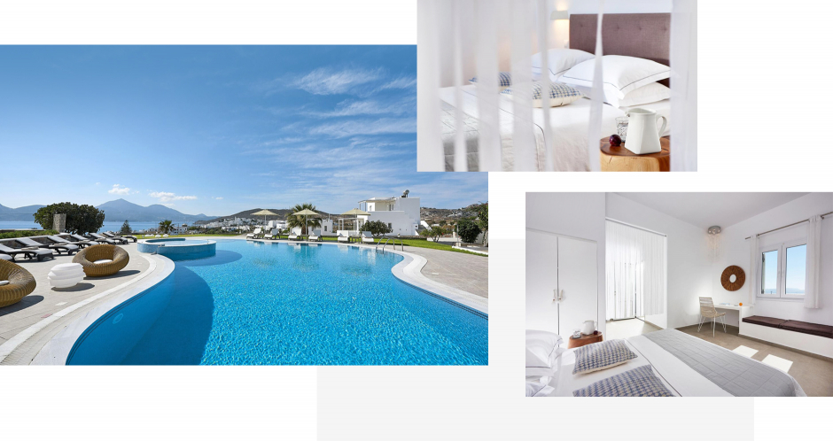 Santa Maria Luxury Suites, Adamas. Milos, Greece. The ultimate guide to the best chic hotels in Milos, Greece by Travelplusstyle.com