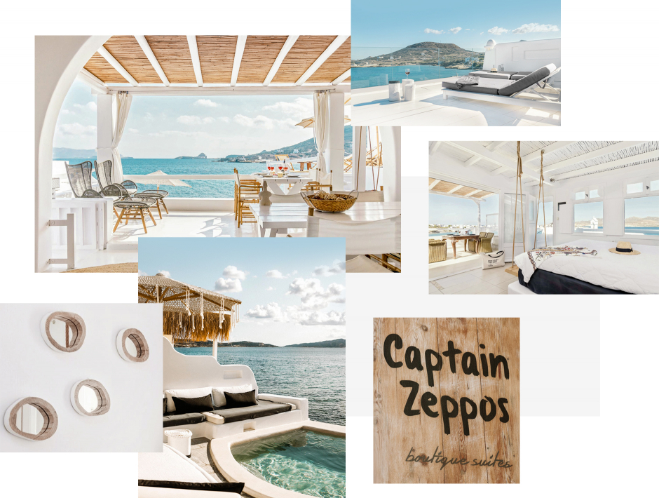Captain Zeppos Boutique Suites, Milos, Greece. The ultimate guide to the best chic hotels in Milos, Greece by Travelplusstyle.com