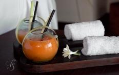 Welcome drinks, Ubud Hanging Gardens Hotel. Photo © Travel+Style