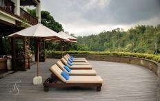 By the restaurant, Ubud Hanging Gardens Hotel. Photo © Travel+Style