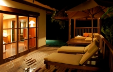 Villa at night. Ubud Hanging Gardens Hotel. Photo © Travel+Style