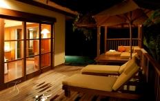 Villa at night. Ubud Hanging Gardens Hotel. Photo © Travel+Style