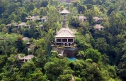 Ubud Hanging Gardens Hotel, seen from the other side of the valley. Photo © Travel+Style