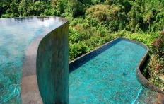 Iconic pool, Ubud Hanging Gardens Hotel. Photo © Travel+Style