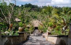 By the lobby, Ubud Hanging Gardens Hotel. Photo © Travel+Style