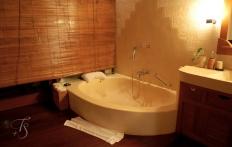 Bathroom detail, Ubud Hanging Gardens Hotel. Photo © Travel+Style