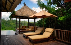 Villa deck. Ubud Hanging Gardens Hotel. Photo © Travel+Style