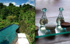 Main pool and spa detail, Ubud Hanging Gardens Hotel. Photo © Travel+Style