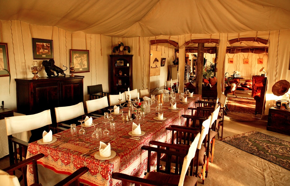 Dining Area, Cottar's 1920s Safari Camp © Copyright Cottar's