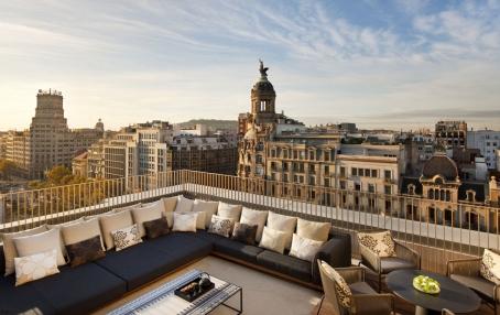 Penthouse Terrace. Mandarin Oriental Barcelona. © Mandarin Oriental Hotel Group