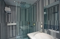 The 6 head shower with Marmara Marble by Ross Lovegrove in Witt Istanbul Hotel suites. © Witt Istanbul Hotel