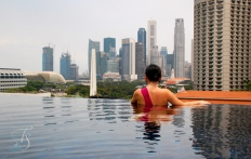Day View Of Rooftop Infinity Pool. Naumi Hotel, Singapore. ©Travel+Style