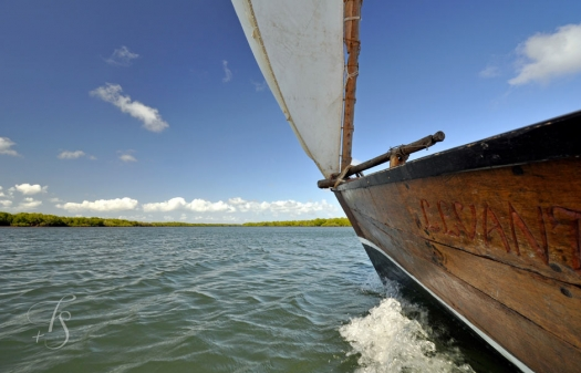 Sailing off Lamu island, Kenya © Travel+Style