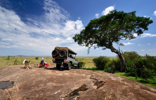 Breakfast on the Savannah. Masai Mara, Kenya © Travel+Style
