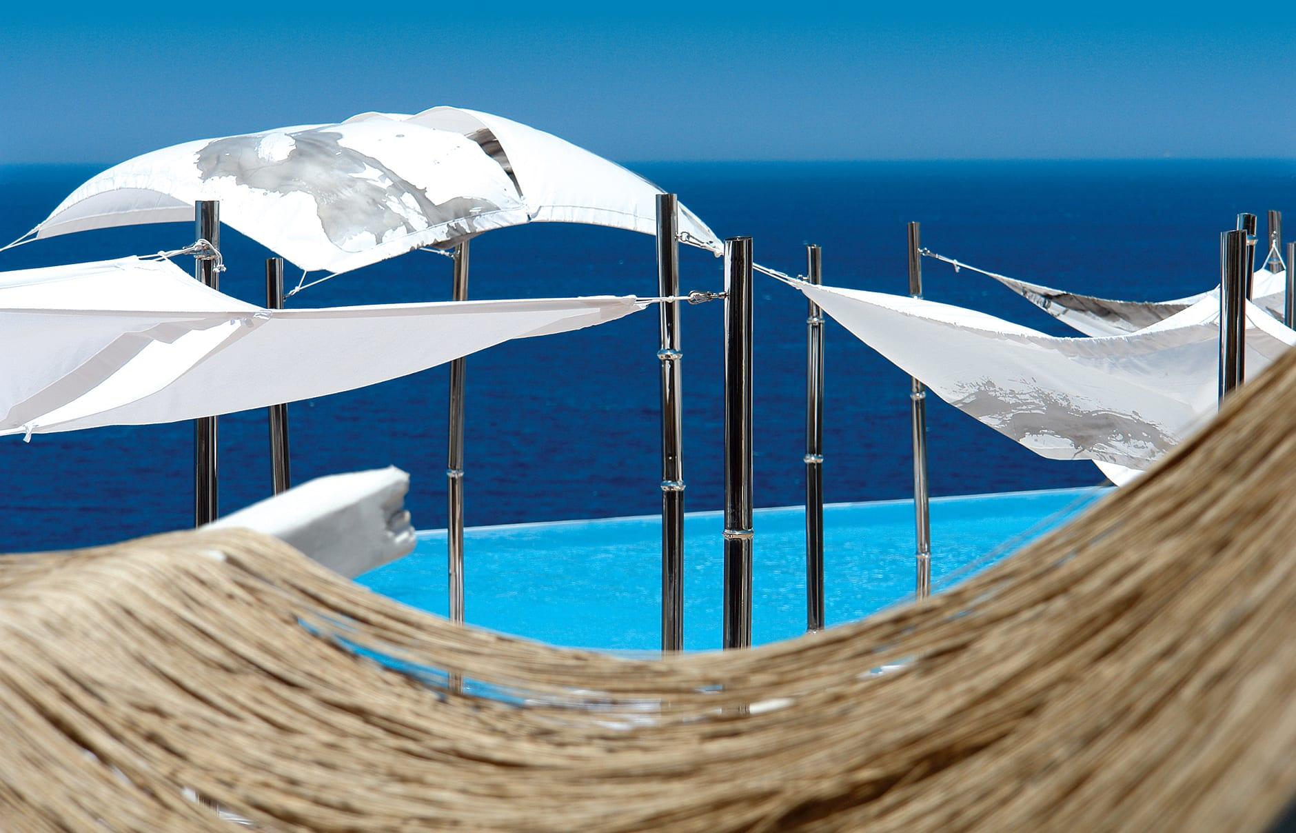 Infinity pool. Cavo Tagoo Hotel. Mykonos, Greece. © Cavo Tagoo