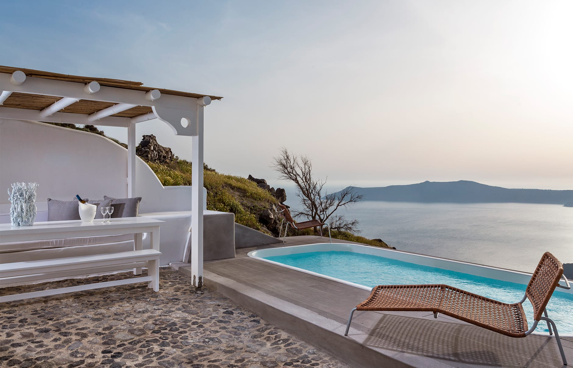 Chromata Santorini, Greece. Hotel Review by TravelPlusStyle. Photo © Chromata Santorini