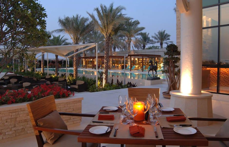 Dinner on terrace. Desert Palm, Dubai. © Per AQUUM