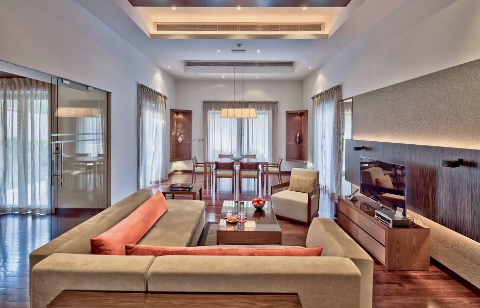 Pool Residence Living Room. Desert Palm, Dubai. © Per AQUUM