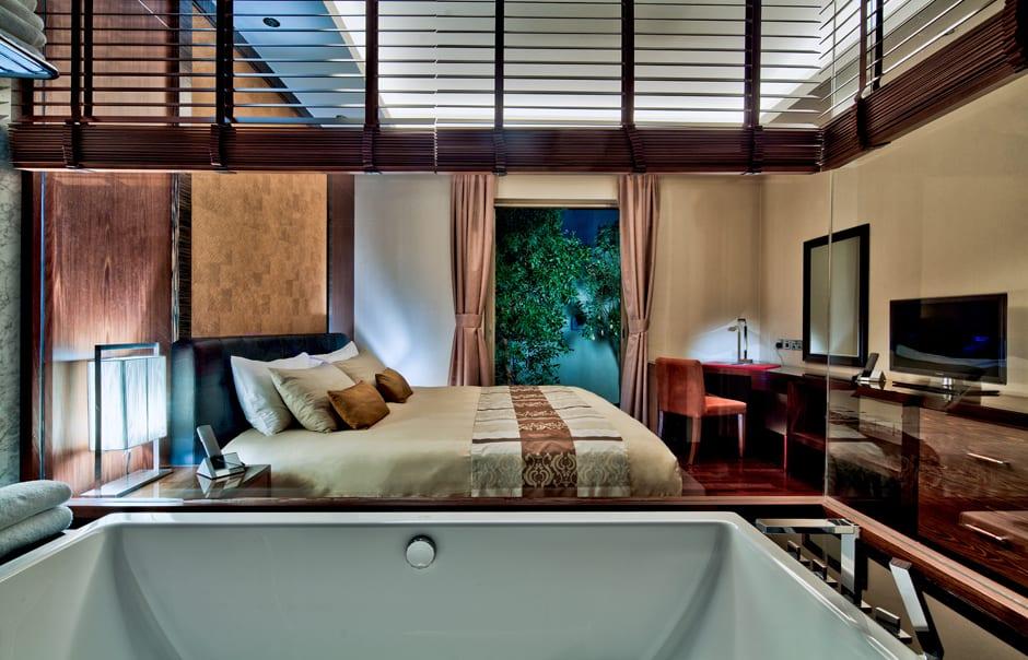 Pool Residence Master Bedroom. Desert Palm, Dubai. © Per AQUUM