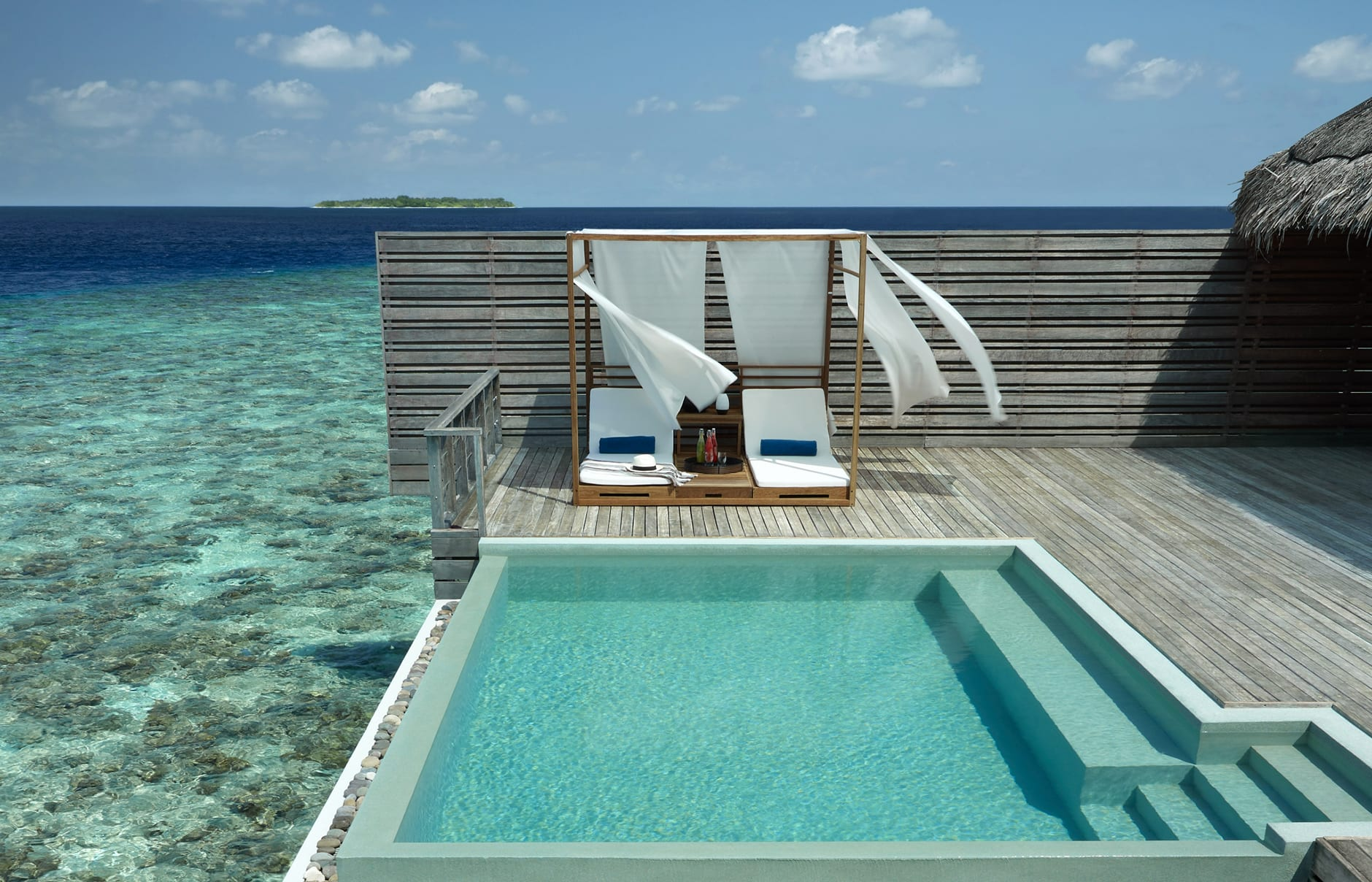 Dusit Thani Maldives, Baa Atoll, Maldives. Hotel Review by TravelPlusStyle. Photo © Dusit International