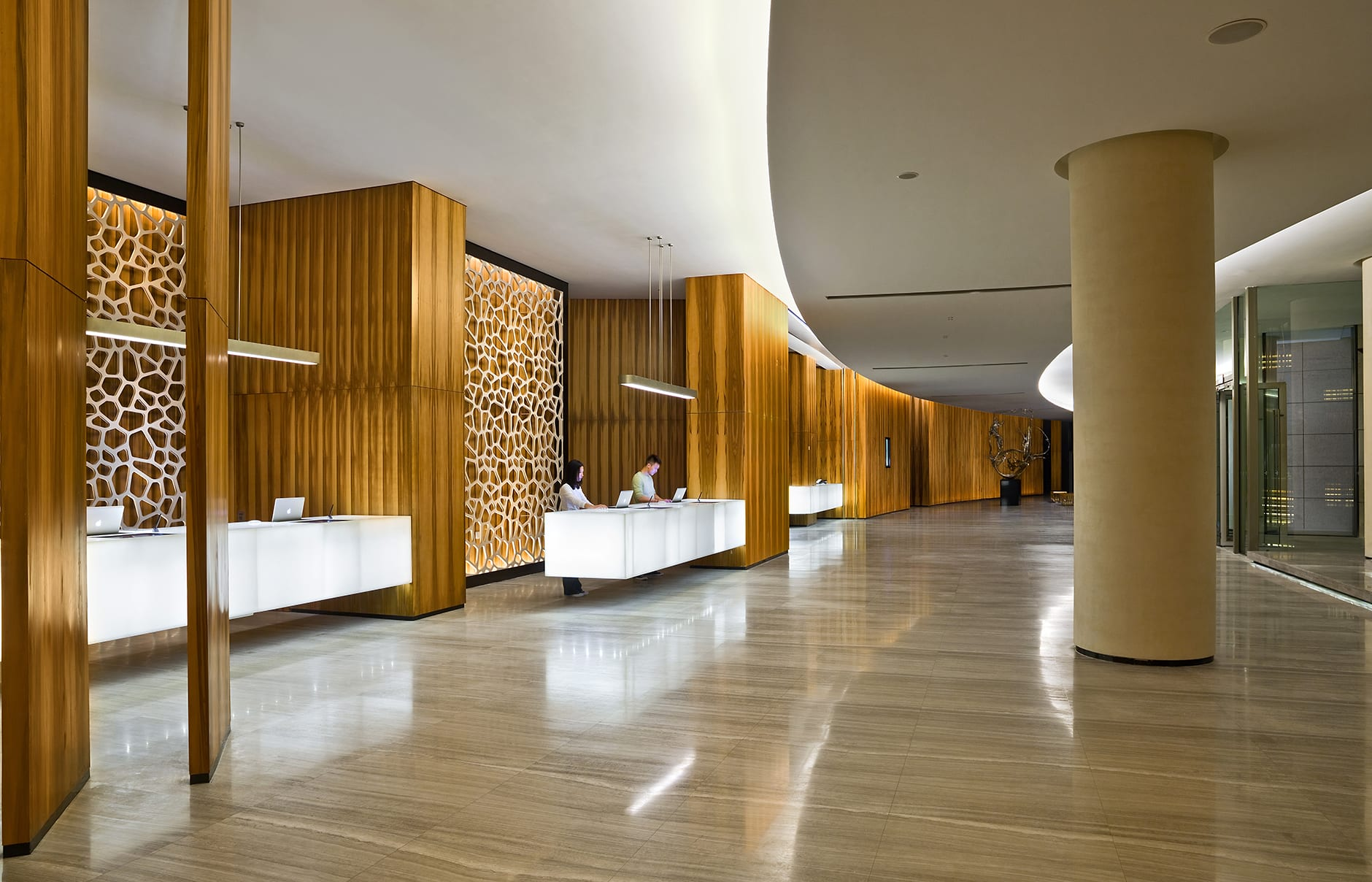 Lobby. EAST Beijing, China. Hotel Review by TravelPlusStyle. Photo © Swire Hotels