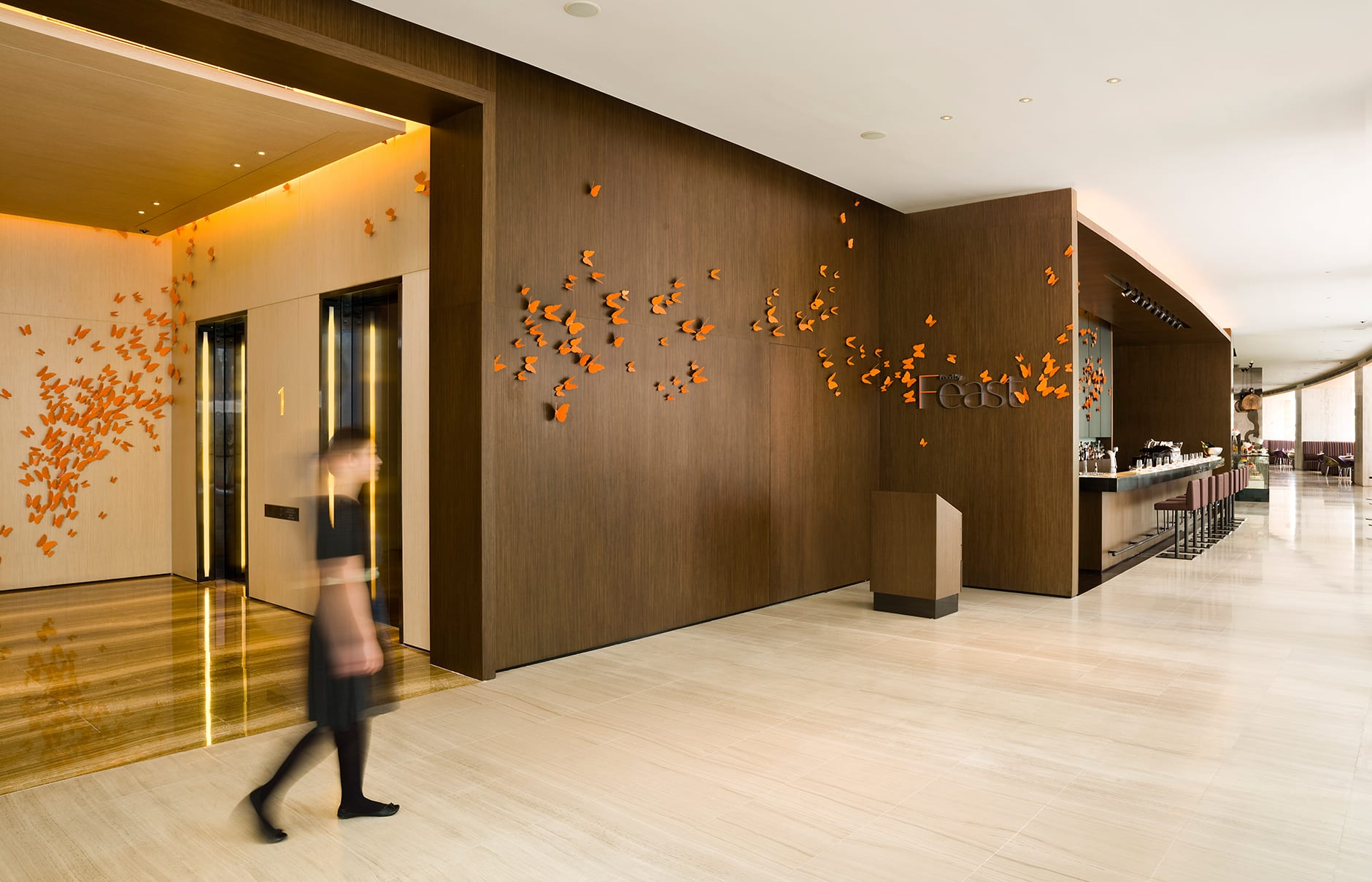 Butterly effect. EAST, Hongkong. © Swire Hotels