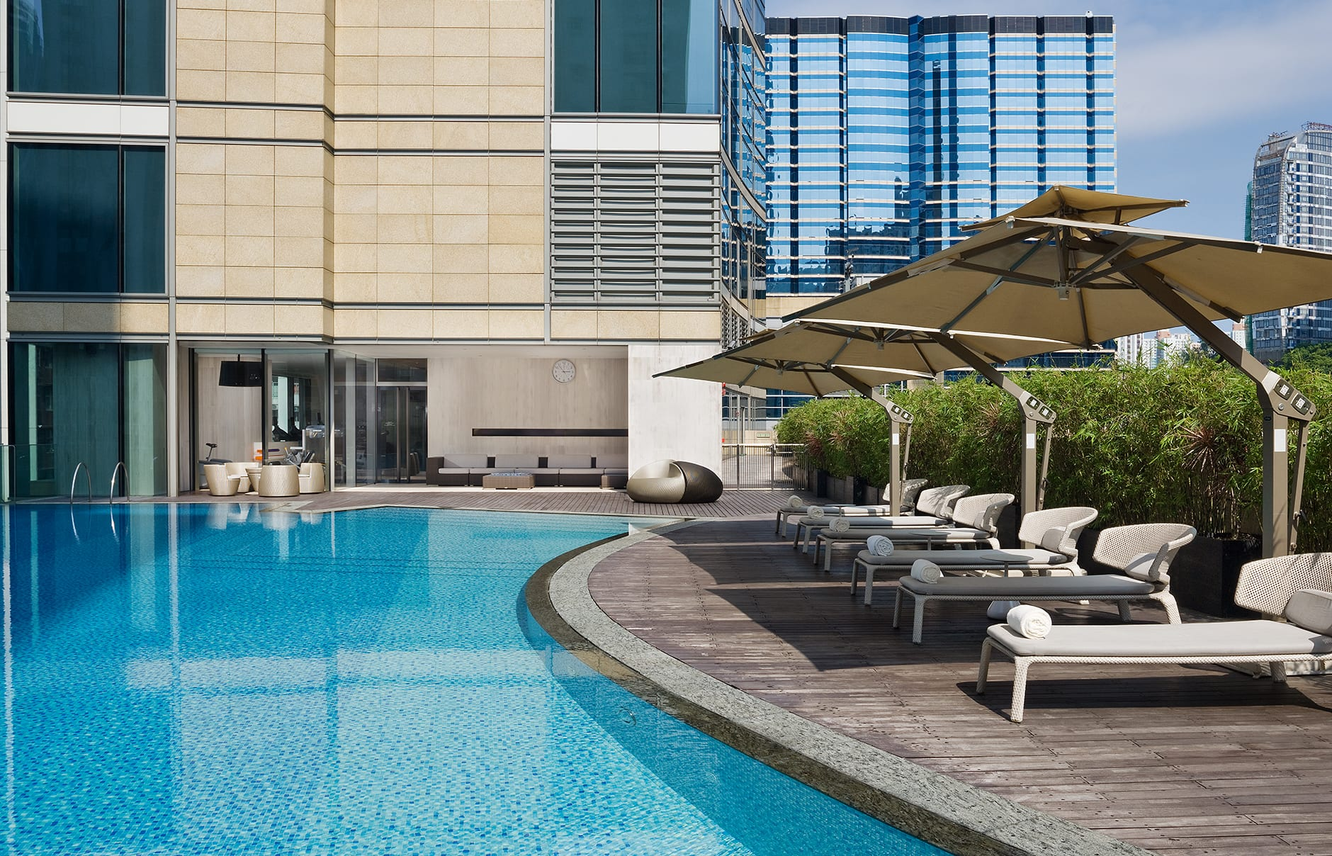 Beast pool. EAST Hong Kong, Hong Kong. Hotel Review by TravelPlusStyle. Photo © Swire Hotels