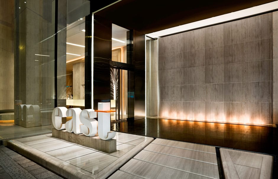 Main entrance. EAST Hong Kong, Hong Kong. Hotel Review by TravelPlusStyle. Photo © Swire Hotels