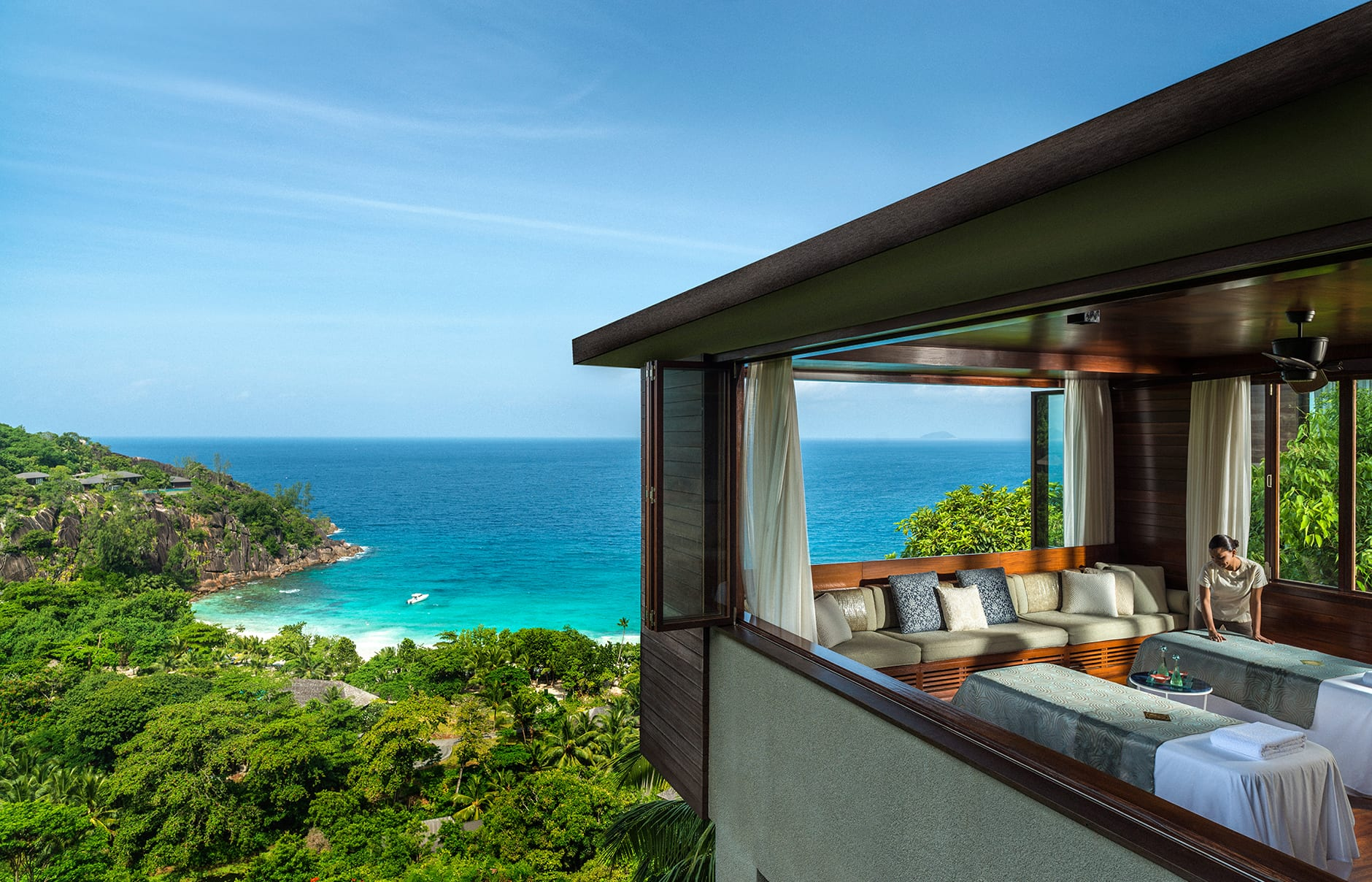 Four Seasons Resort Seychelles, Mahe Island, Seychelles. Hotel Review by TravelPlusStyle. Photo © Four Seasons